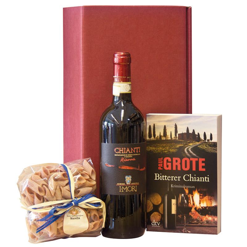 GK Chianti mit Weinkrimi & Pasta