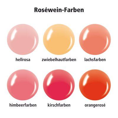 Verschiedene Roséweinfarben